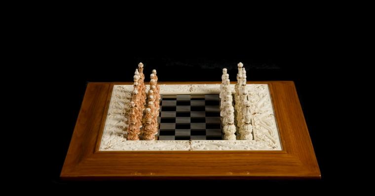 Шахматы Классические из бивня мамонта