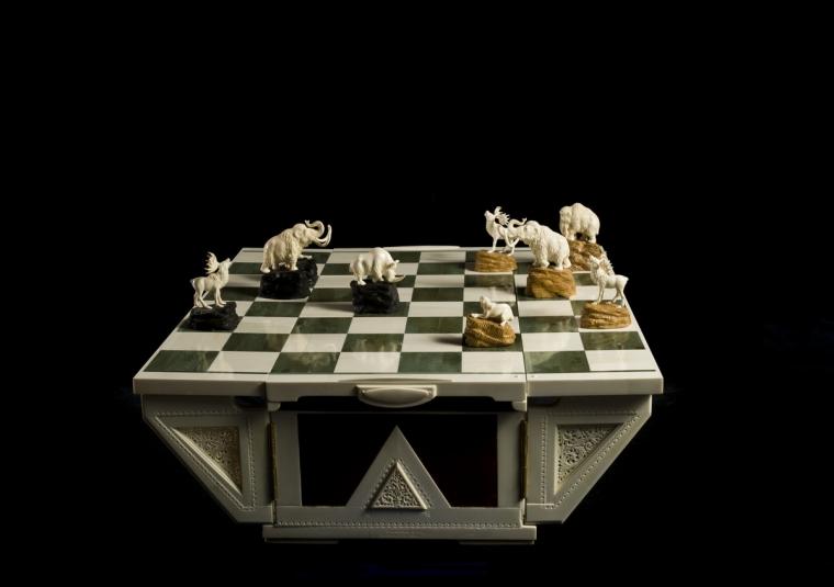 Шахматы Большой плейстоцен из бивня мамонта